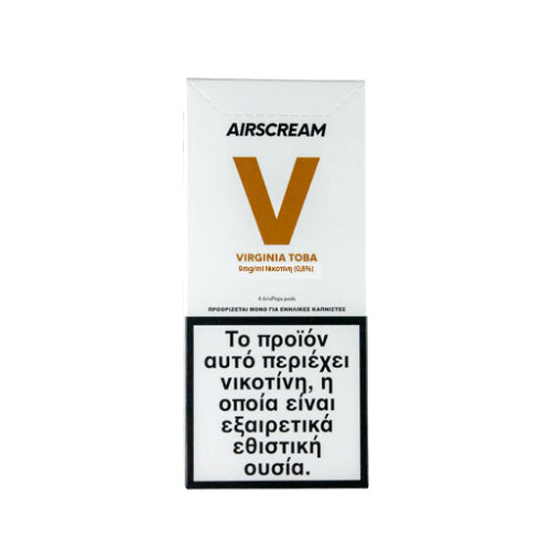 AirScream - Pops Virginia Toba 4 x 1.2ml 09mg Salt